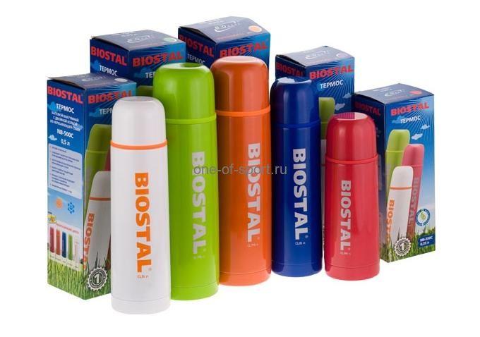 Термос Biostal у/г, цветной 0,5л. арт.NB-500C