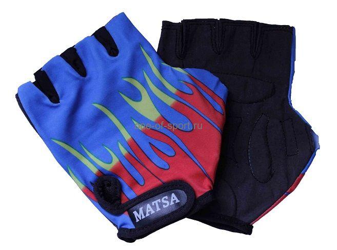 Велоперчатки Matsa (лайкра, иск.замша) р.S-XL