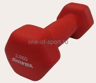 Гантель Sprinter (GoDo) (неопрен) 2 кг арт.М-2