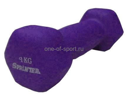 Гантель Sprinter (GoDo) (неопрен) 4 кг арт.М-4
