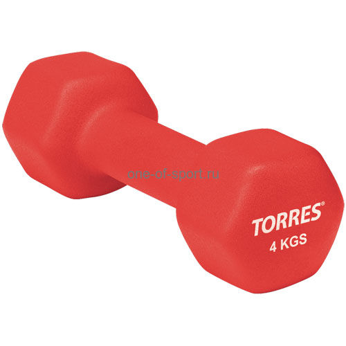 Гантель Torres (неопрен) 4 кг арт.PL50014
