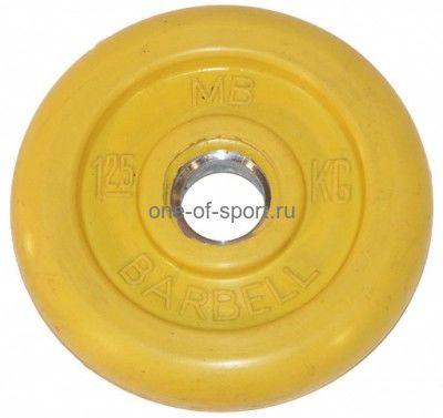 Диск обрезин. (желтый) Barbell d 51 мм 1,25 кг