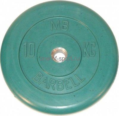 Диск обрезин. (зеленый) Barbell d 51 мм 10 кг