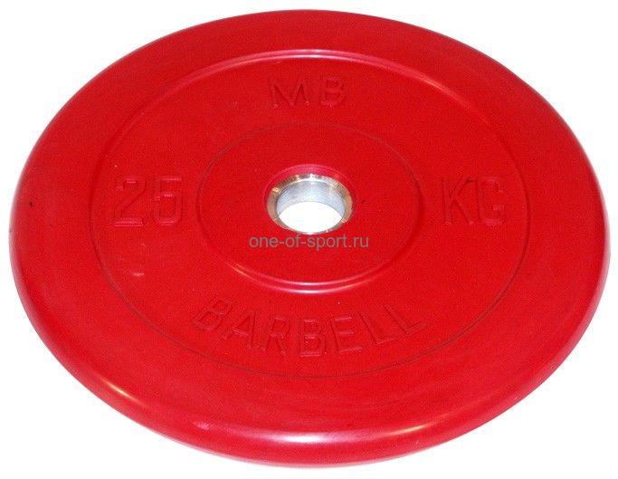 Диск обрезин. (красный) Barbell d 51 мм 25 кг