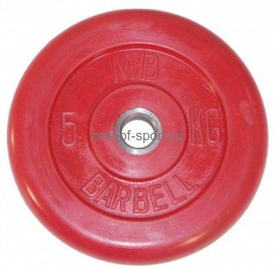 Диск обрезин. (красный) Barbell d 51 мм 5 кг