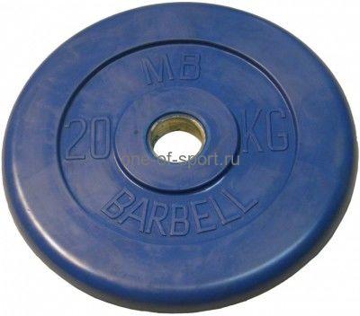 Диск обрезин. (синий) Barbell d 51 мм 20 кг