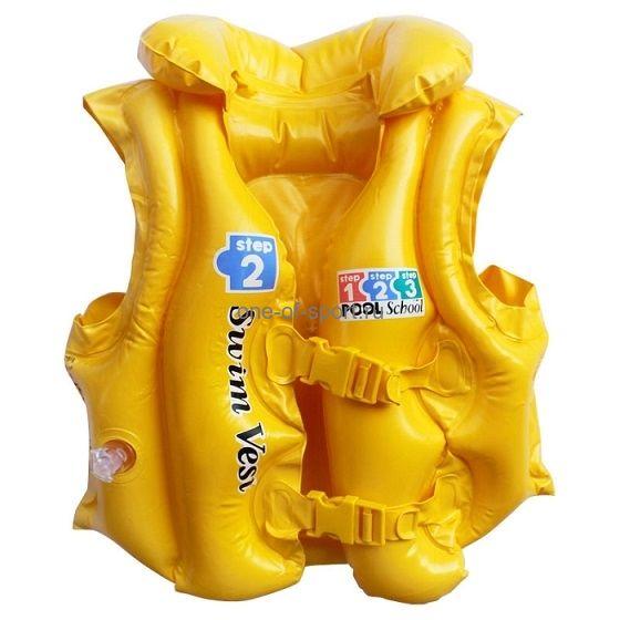 Жилет Intex арт.58660 желтый 3-6лет