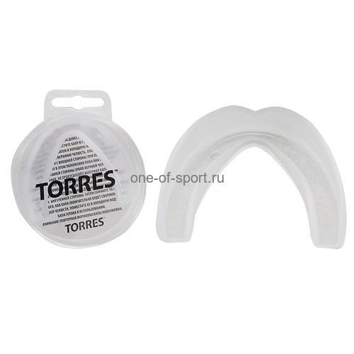 Капа боксерская Torres 1-челюст. арт.PRL1023WT евростандарт белый