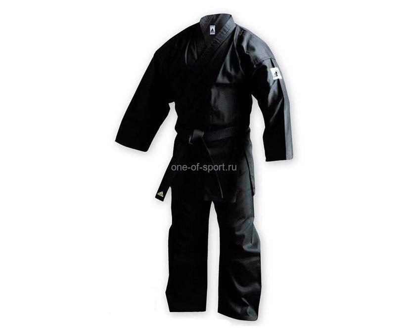 Кимоно Adidas каратэ Club Black (Пакистан) арт.K220B р.140-180