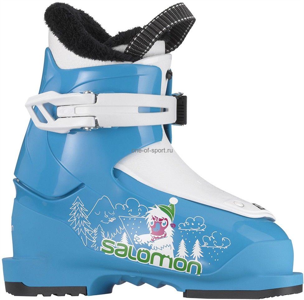 Ботинки г/л Salomon T1 арт.L378168 Blue р.16-18