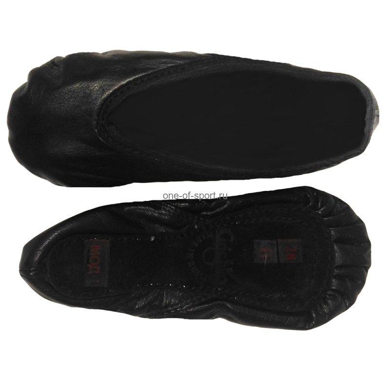 Балетки черные Grishko (кожа) ПРОФИ арт.03001K/D сплош.подошва р.28-32