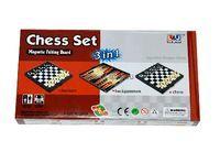 Набор игр 3 в 1 шашки,шахм.,нарды 23см арт.LJ1012
