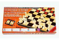 Набор игр 3 в 1 шашки,шахм.,нарды 25см арт.3213МА
