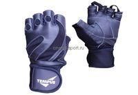 Перчатки штангиста Tempus арт.SB-16-1064 (кожа/лайкра) р.S-XXL