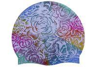 Шапочка для плав. Tempus (силикон) мультиколор-роза арт.CP108