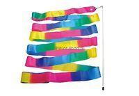 Лента для х/гимнастики 6м арт.AB227-2 поперечная радуга