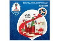 """FIFA-2018 Магнит картон Забивака """"Летящий мяч"""" арт.CH521"""