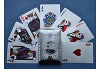 Карты игральные 54 листа подарочные (серебро) арт.JSD-2