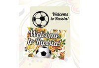 Магнит Welcome to Russia винил 5х7см Хохлома арт.5181019