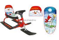 Снегокат Барс 130 Comfort Снеговик (уп.2шт) со спинкой