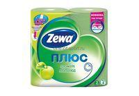Туалетная бумага Zewa Plus яблоко двухслойная 4 рулона