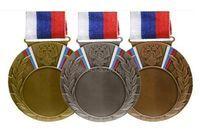 Заготовка медали MD Rus.80 с лентой РФ-38мм,