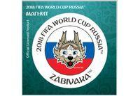 "FIFA-2018 Магнит картон Забивака ""Улыбайся!"" триколор арт.CH534"