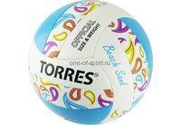 Мяч в/б Torres Beach Sand Blue арт.V32095B (пляжн.) NEW