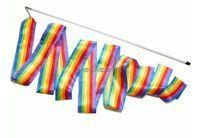 Лента для х/гимнастики 6м арт.PD-02-PA продольная радуга
